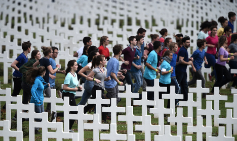 Children jog among graves at Verdun: Was it 'indecent'?