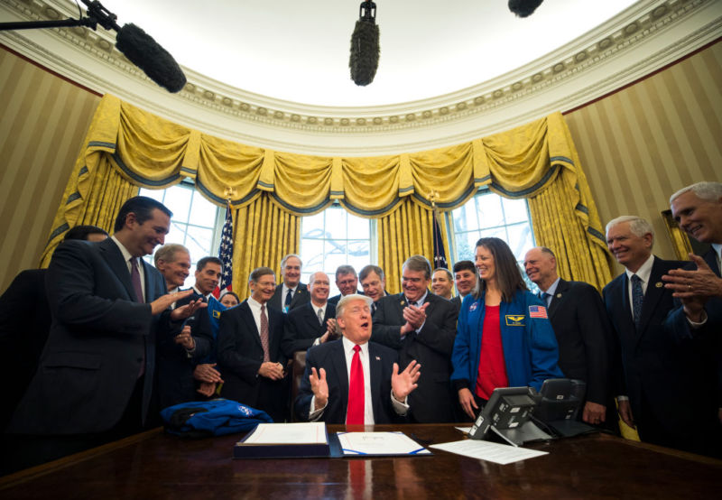 "President Trump signs NASA advisory bill, says it's ""about jobs"""