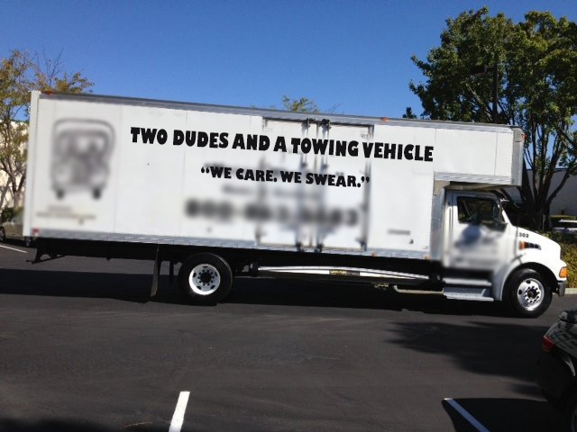 Issues Had with Moving Company: Couple Dudes and a Towing Vehicle