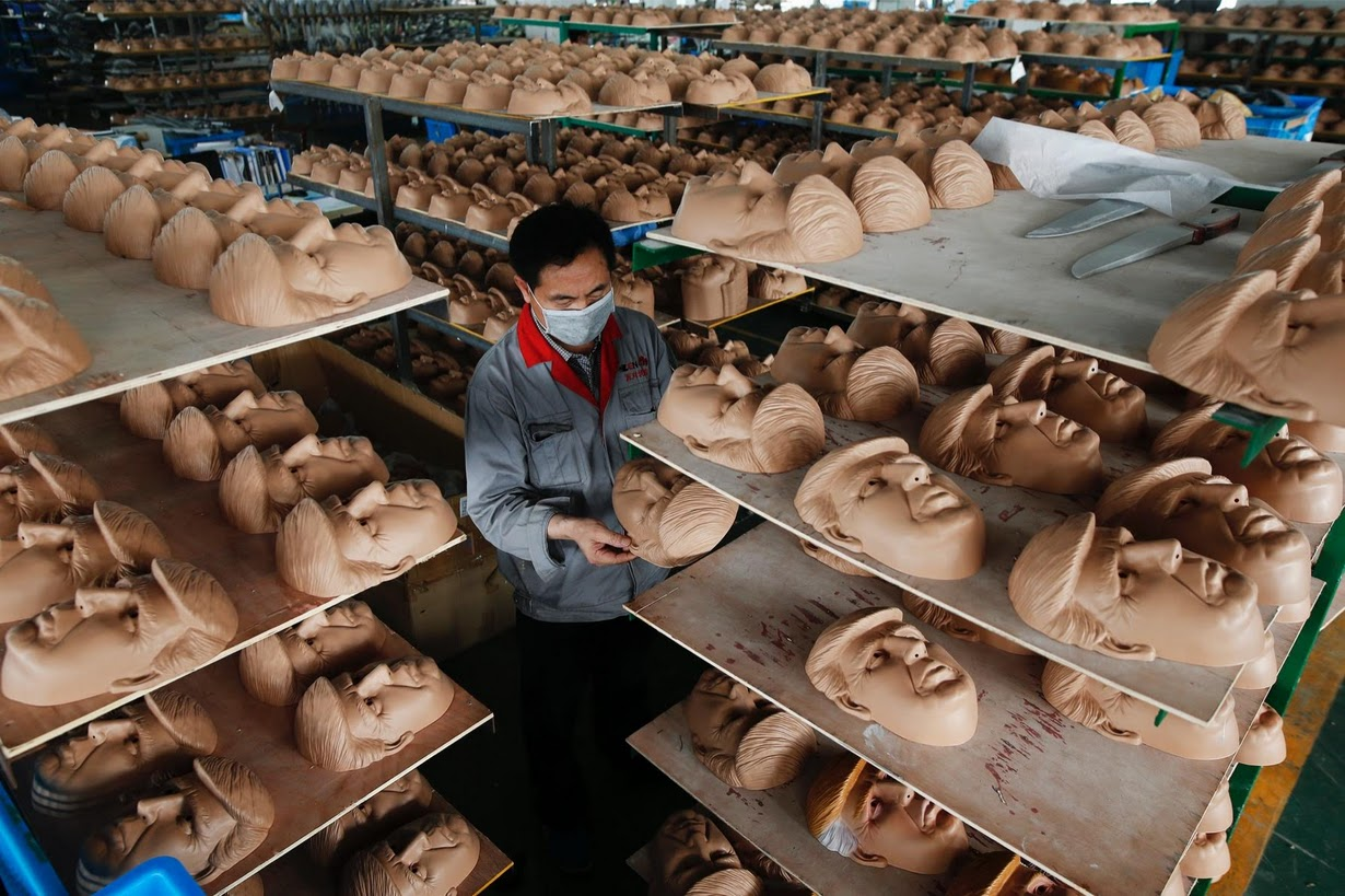 U.S. election: Manufacturing the masks