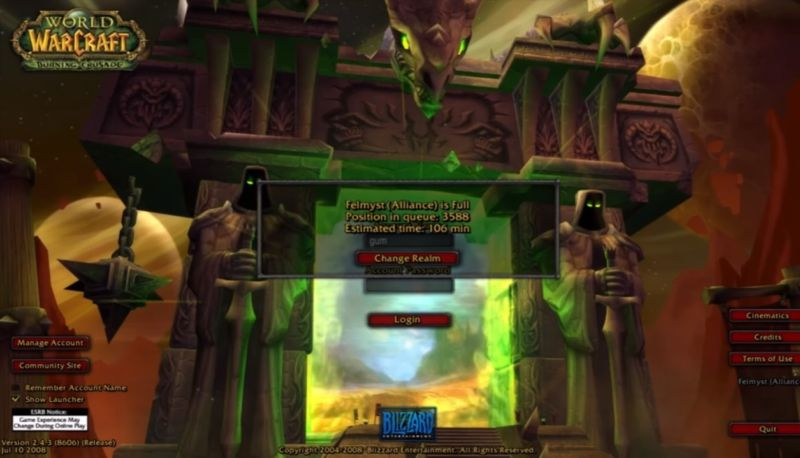 "Blizzard shuts down ""legacy"" WoW fan server hours after it goes up"