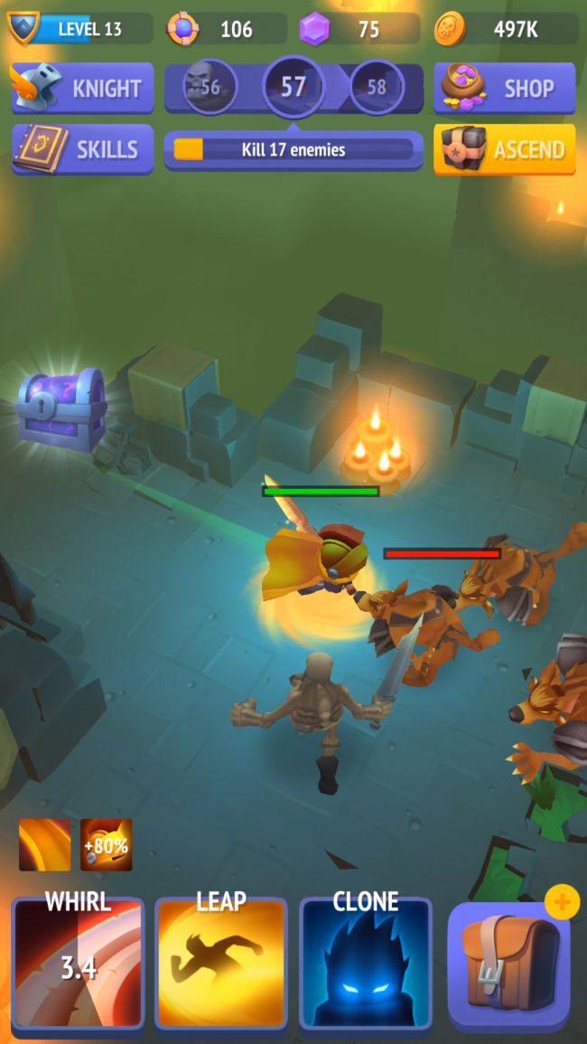 Translating the action RPG experience from PC to mobile with Nonstop Knight