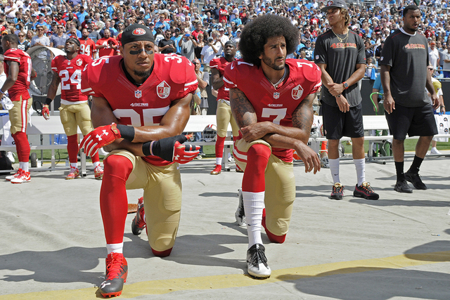Football Players Taking A Knee - Unpatriotic?