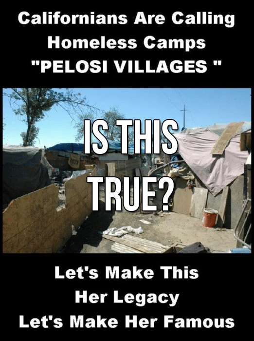 Is the Pelosi Village Image Real?